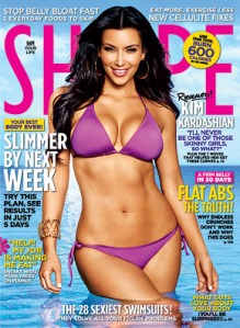 Kim Kardashian, Shape Magazine, fitness, celebrities, beauty, entertainment, workout, weight loss