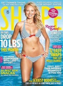 jewel on the cover of shape mag, jewel's ab routine, celebrity fitness