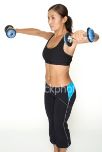 dumbbell lateral raise, how to lose arm jiggle, The Eat Clean Diet
